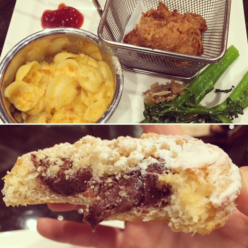 Fried chicken, mac n cheese and a nutella danish - just part of one morning's breakfast